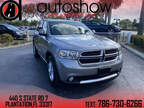 2013 Dodge Durango for sale at AUTOSHOW SALES & SERVICE in Plantation FL
