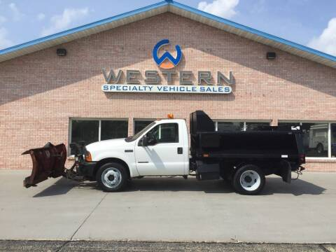 2000 Ford F550 Dump Plow Truck for sale at Western Specialty Vehicle Sales in Braidwood IL