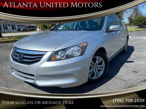 2012 Honda Accord for sale at Atlanta United Motors in Jefferson GA