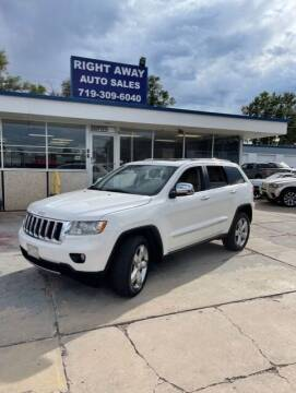 2012 Jeep Grand Cherokee for sale at Right Away Auto Sales in Colorado Springs CO