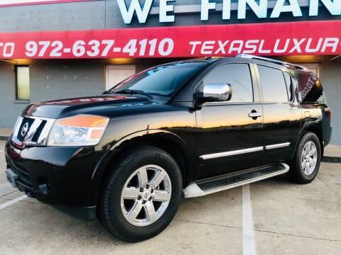 2011 Nissan Armada for sale at Texas Luxury Auto in Cedar Hill TX