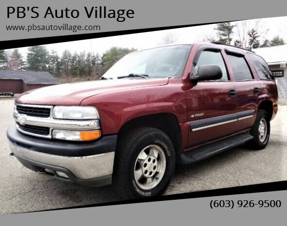 2002 Chevrolet Tahoe for sale at PB'S Auto Village in Hampton Falls NH