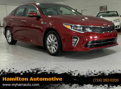 2018 Kia Optima for sale at Hamilton Automotive in North Huntingdon PA