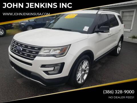2016 Ford Explorer for sale at JOHN JENKINS INC in Palatka FL