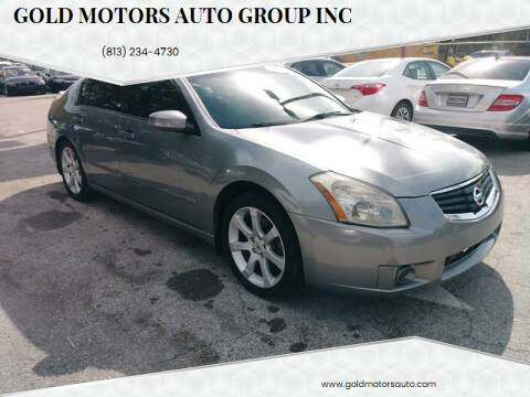 2008 Nissan Maxima for sale at Gold Motors Auto Group Inc in Tampa FL