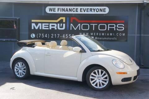 2008 Volkswagen New Beetle Convertible for sale at Meru Motors in Hollywood FL