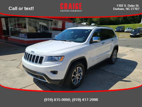 2015 Jeep Grand Cherokee for sale at CRAIGE MOTOR CO in Durham NC