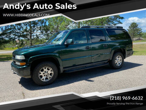 2004 Chevrolet Suburban for sale at Andy's Auto Sales in Hibbing MN