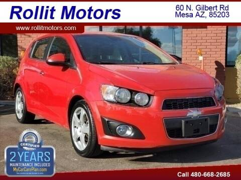 2013 Chevrolet Sonic for sale at Rollit Motors in Mesa AZ