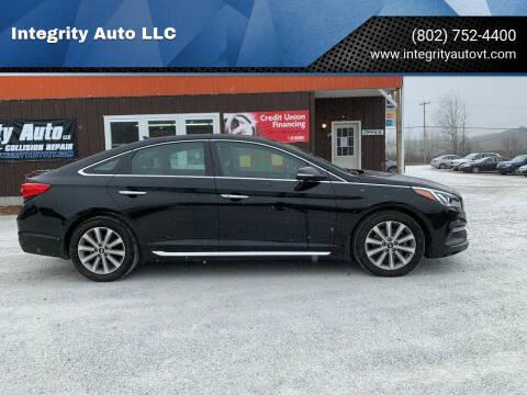 2016 Hyundai Sonata for sale at Integrity Auto LLC in Sheldon VT