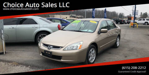 2005 Honda Accord for sale at Choice Auto Sales LLC - Cash Inventory in White House TN