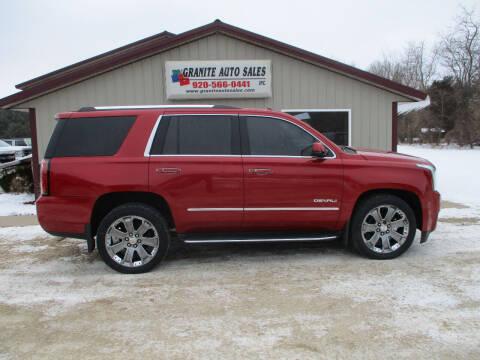 2015 GMC Yukon for sale at Granite Auto Sales in Redgranite WI