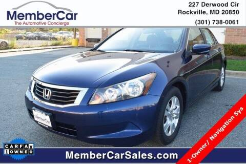 2009 Honda Accord for sale at MemberCar in Rockville MD