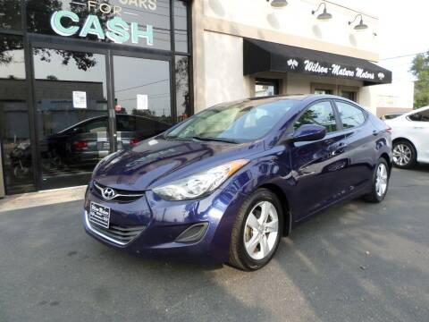 2013 Hyundai Elantra for sale at Wilson-Maturo Motors in New Haven Ct CT