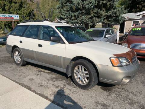 2000 Subaru Outback for sale at Harpers Auto Sales in Kettle Falls WA