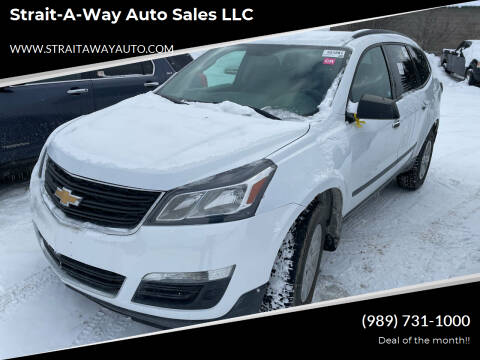 2017 Chevrolet Traverse for sale at Strait-A-Way Auto Sales LLC in Gaylord MI