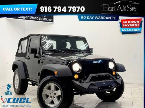 2015 Jeep Wrangler for sale at Elegant Auto Sales in Rancho Cordova CA