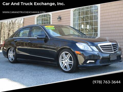 2010 Mercedes-Benz E-Class for sale at Car and Truck Exchange, Inc. in Rowley MA