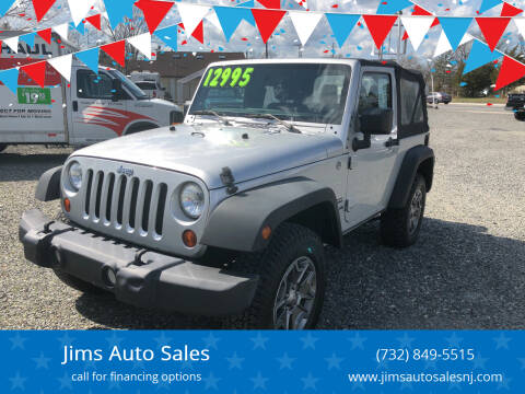 2012 Jeep Wrangler for sale at Jims Auto Sales in Lakehurst NJ