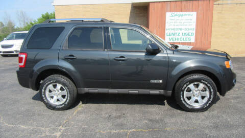2008 Ford Escape for sale at LENTZ USED VEHICLES INC in Waldo WI