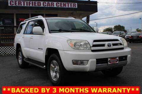 2004 Toyota 4Runner for sale at CERTIFIED CAR CENTER in Fairfax VA
