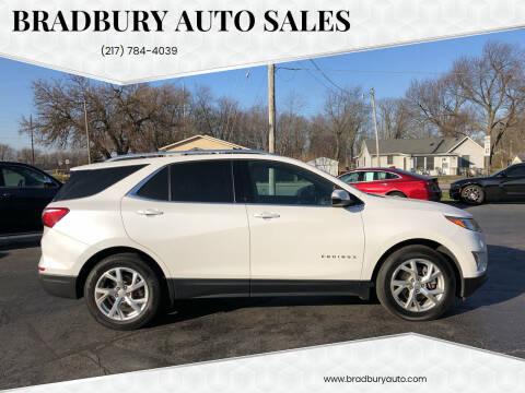 2018 Chevrolet Equinox for sale at BRADBURY AUTO SALES in Gibson City IL