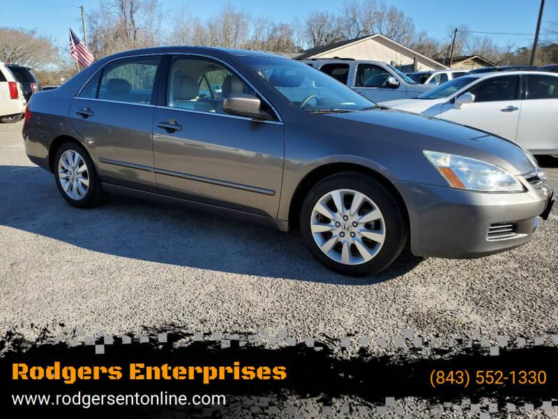 2007 Honda Accord for sale at Rodgers Enterprises in North Charleston SC