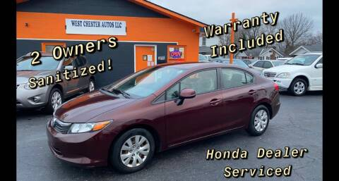 2012 Honda Civic for sale at West Chester Autos in Hamilton OH