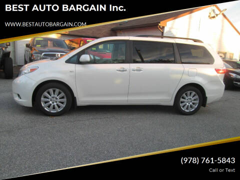 2017 Toyota Sienna for sale at BEST AUTO BARGAIN inc. in Lowell MA