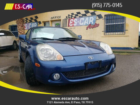 2005 Toyota MR2 Spyder for sale at Escar Auto in El Paso TX