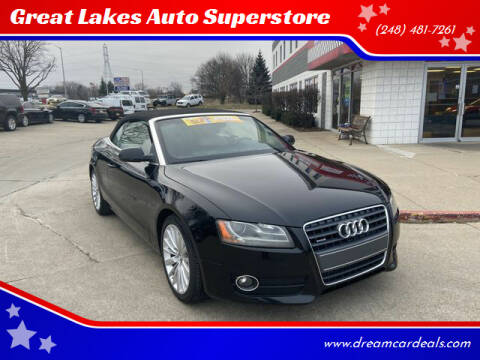 2012 Audi A5 for sale at Great Lakes Auto Superstore in Pontiac MI