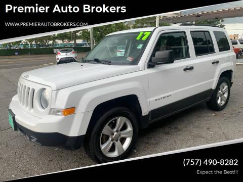 2017 Jeep Patriot for sale at Premier Auto Brokers in Virginia Beach VA