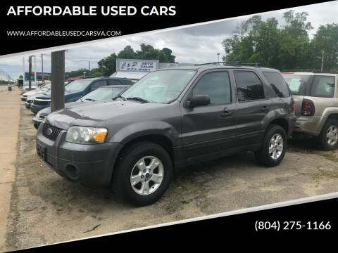 2005 Ford Escape for sale at AFFORDABLE USED CARS in Richmond VA