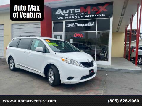 2017 Toyota Sienna for sale at Auto Max of Ventura in Ventura CA