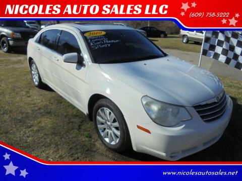2010 Chrysler Sebring for sale at NICOLES AUTO SALES LLC in Cream Ridge NJ