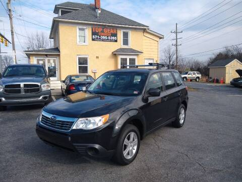 2009 Subaru Forester for sale at Top Gear Motors in Winchester VA