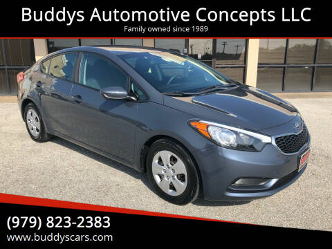 2016 Kia Forte for sale at Buddys Automotive Concepts LLC in Bryan TX
