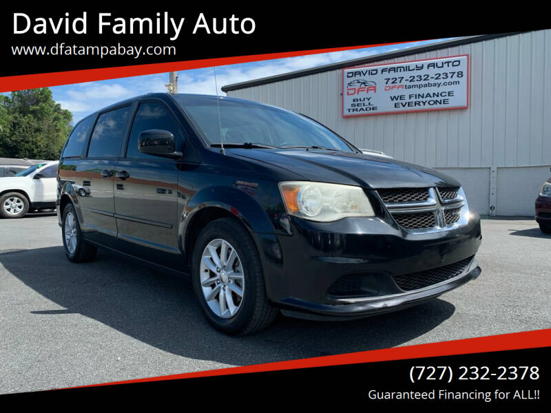 2015 Dodge Grand Caravan for sale at David Family Auto in New Port Richey FL