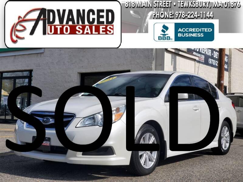 2011 Subaru Legacy for sale at Advanced Auto Sales in Tewksbury MA