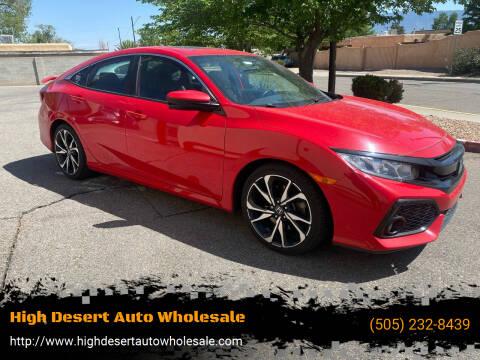 2017 Honda Civic for sale at High Desert Auto Wholesale in Albuquerque NM