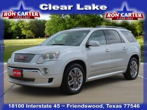 2012 GMC Acadia for sale at Ron Carter  Clear Lake Used Cars in Houston TX