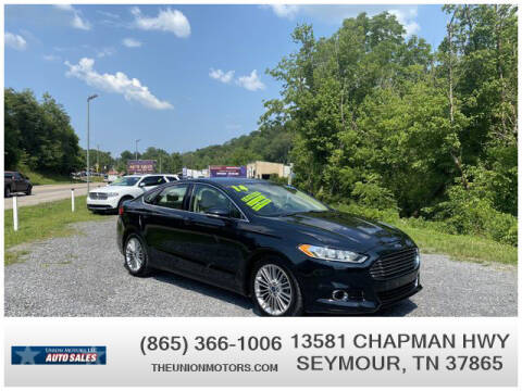 2014 Ford Fusion for sale at Union Motors in Seymour TN