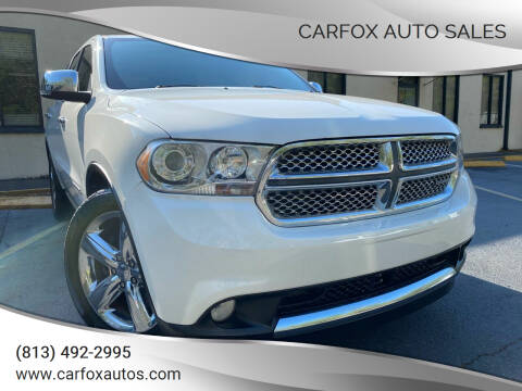 2011 Dodge Durango for sale at Carfox Auto Sales in Tampa FL
