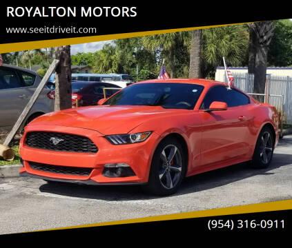 2016 Ford Mustang for sale at ROYALTON MOTORS in Plantation FL