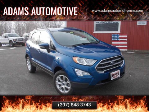 2019 Ford EcoSport for sale at Adams Automotive in Hermon ME