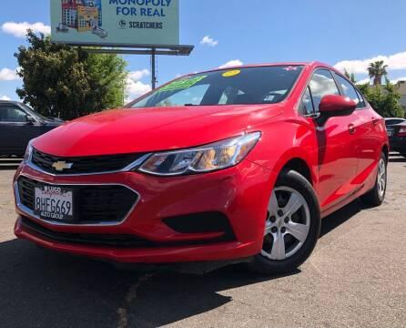 2018 Chevrolet Cruze for sale at LUGO AUTO GROUP in Sacramento CA