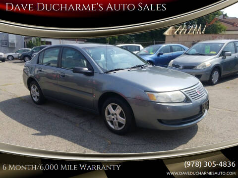 2006 Saturn Ion for sale at Dave Ducharme's Auto Sales in Lowell MA