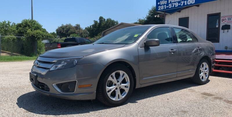 2012 Ford Fusion for sale at P & A AUTO SALES in Houston TX