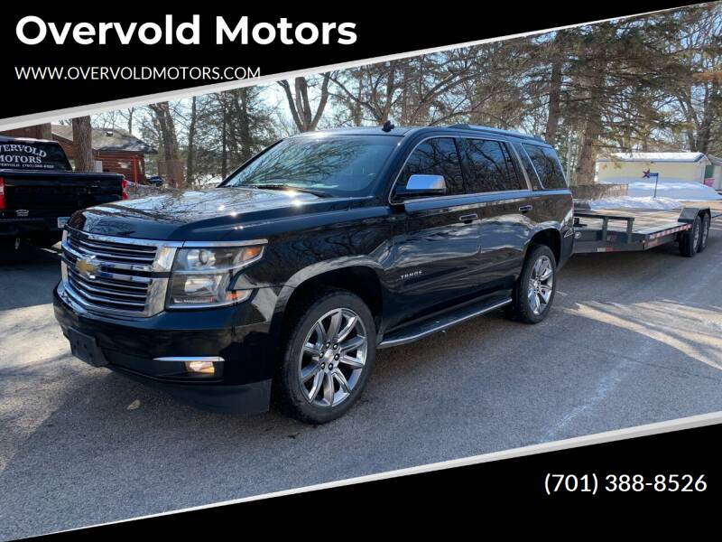 2015 Chevrolet Tahoe for sale at Overvold Motors in Detriot Lakes MN