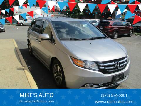2016 Honda Odyssey for sale at MIKE'S AUTO in Orange NJ